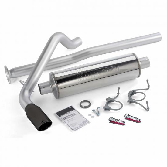 Simpson Family Jeeps | Monster Exhaust System Single Exit Black Tip